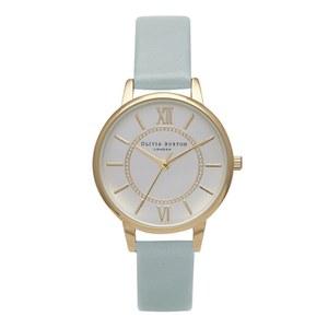 Olivia Burton Women's Wonderland Watch - Gold/Powder Blue