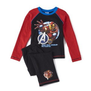 Marvel Avengers Boy's Long Sleeve Pyjamas - Black
