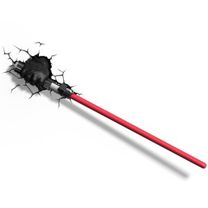 Star Wars Darth Vader Lightsaber 3D Light