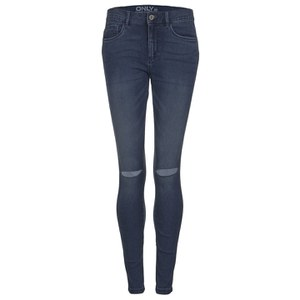 ONLY Women's Royal Reg Kneecut Jeans - Medium Blue Denim