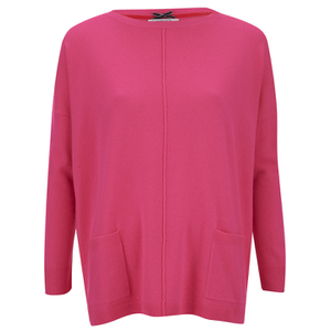 Cocoa Cashmere Women's Jumper with Pockets - Dayglow