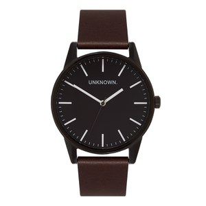 UNKNOWN Men's The Wrap Watch - Black Dial/Brown