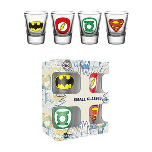 DC Comics Logos - Shot Glasses