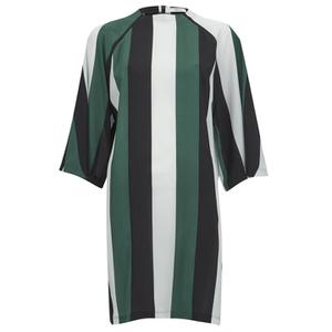 Ganni Women's Block Stripe Dress - Block Stripes