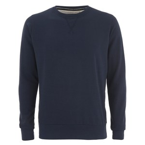Brave Soul Men's Jones Crew Neck Sweatshirt - Dark Navy