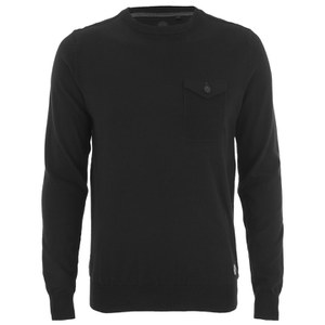 Threadbare Men's Toronto Cotton Crew Neck Pocket Jumper - Black