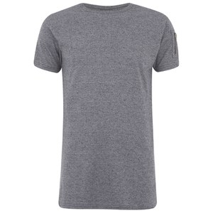 Eclipse Men's Gilson Zip Sleeve Longline T-Shirt - Grey Marl