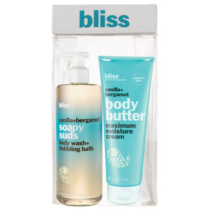 BLISS VANILLA SOAP SUDS AND BODY BUTTER SET