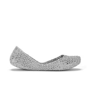 Melissa Women's Campana Papel 15 Ballet Flats - Silver Glitter