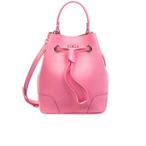 "Furla Women""s Stacey Mini Drawstring Bucket Bag - Pink"