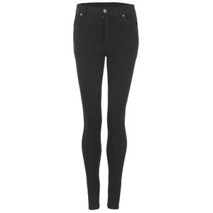Cheap Monday Women's Second Skin High Waisted Skinny Jeans - New Black