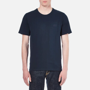 BOSS Hugo Boss Men's Small Logo Crew Neck T-Shirt - Navy