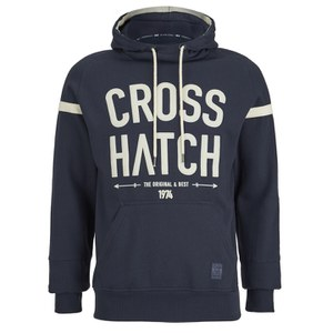 Crosshatch Men's Chassis Print Hoody - Iris Navy
