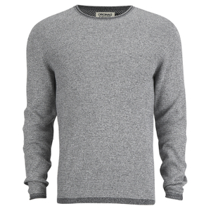Jack & Jones Men's Kalla Crew Neck Space Dye Knitted Jumper - Grey