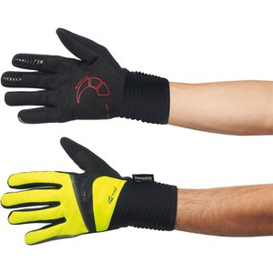 Northwave Sonic Long Finger Gloves - Black/Yellow