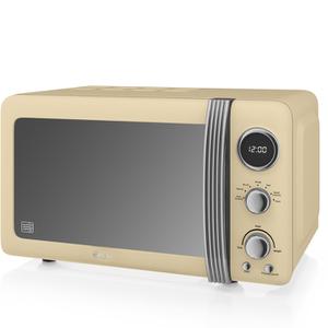 Swan SM22030CN Digital Microwave - Cream - 800W