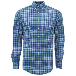 GANT Men's Matchpoint Poplin Check Shirt - Kelly Green