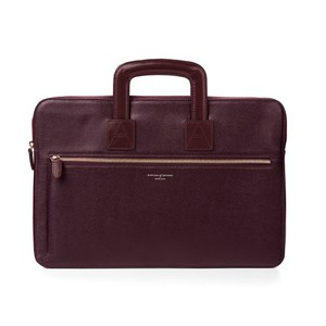 Aspinal of London Men's Connaught Document Case - Burgundy