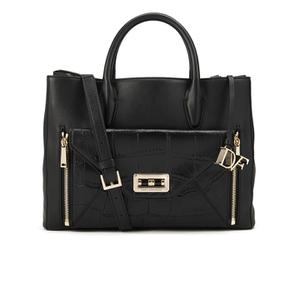 Diane von Furstenberg Women's Gallery Large Secret Agent Leather Tote Bag - Black