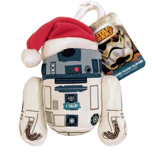 Star Wars Santa R2D2 Talking Plush Clip On