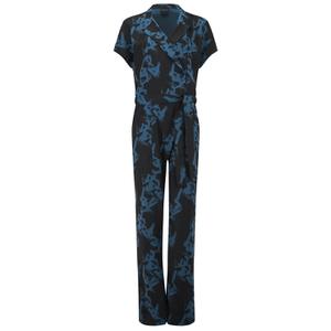 Selected Femme Women's Macy Short Sleeve Jumpsuit - Black