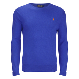 Polo Ralph Lauren Men's Crew Neck Pima Cotton Knitted Jumper - New Periwinkle