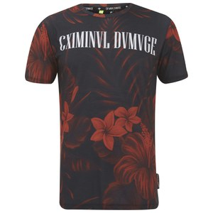 Criminal Damage Mens Nejem T-Shirt - Black/Red