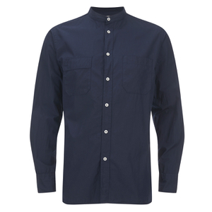 Universal Works Men's Poplin Stoke Shirt - Navy
