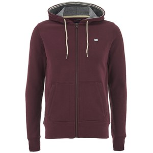 Weekend Offender Men's Biscay Zip Through Hoody - Dark Chianti
