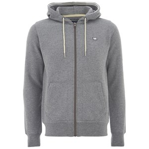 Weekend Offender Men's Biscay Zip Through Hoody - Dark Grey