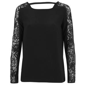 VILA Women's Unless Long Sleeve Top - Black