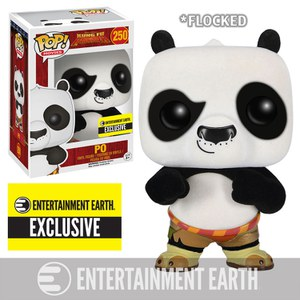 Kung Fu Panda Flocked Po Entertainment Earth Exclusive Funko Pop! Figur