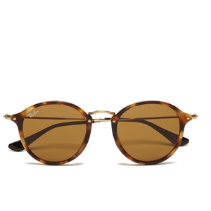 Ray-Ban Round Fleck Spotted Sunglasses - Black Havana