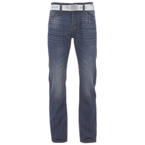 Smith & Jones Men's Farrier Belted Denim Jeans - Medium Wash