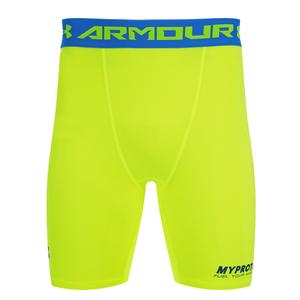 Under Armour Men's HeatGear Compression Shorts - Yellow