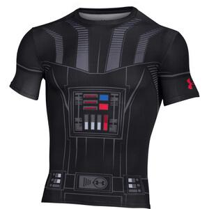 Under Armour Men's Star Wars Vader Compression Short Sleeve T-Shirt - Black