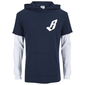 Billionaire Boys Club Men's Big Arch Hoody with Contrast Sleeves - Navy Blazer