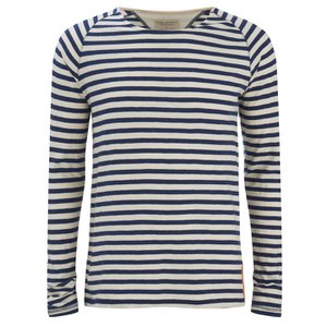 Nudie Jeans Men's Otto Raglan Sleeve Top - Off White/Navy
