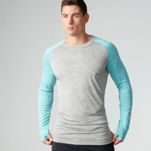 Myprotein Loose Fit Trainingstop Männer - Grau & Blau