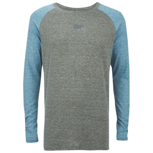 Myprotein Men's Long Sleeve Loose Fit Training Top - Grey & Blue