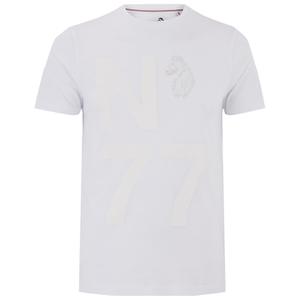 Luke Men's Flame Printed Crew Neck T-Shirt - White