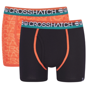 Crosshatch Men's Lightspeed 2-Pack Boxers - Madarin/Black