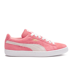 Puma Women's Suede Classic Low Top Trainers - Desert Flower/White