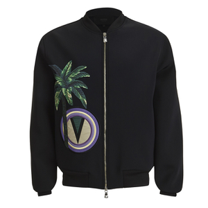 Versus Versace Men's Palm Logo Blouson Bomber Jacket - Black