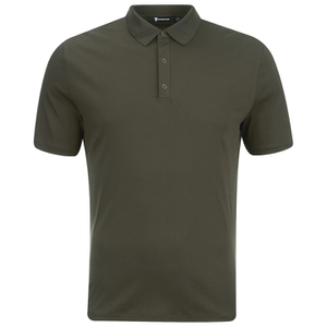 T by Alexander Wang Men's Short Sleeve Polo Shirt - Army