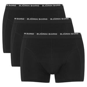 Bjorn Borg Men's 3 Pack Trunk Boxer Shorts - Black