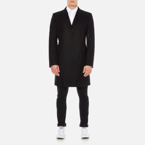 Helmut Lang Men's Shield Melton Overcoat - Black