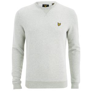 Lyle & Scott Vintage Men's Crew Neck Twill Look Sweatshirt - Light Grey Marl