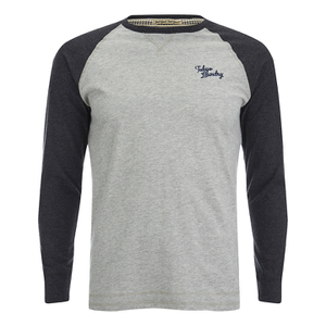 Tokyo Laundry Men's Fremont Raglan Long Sleeve Top - Charcoal Marl