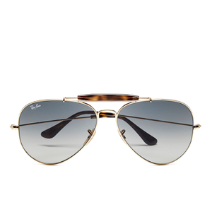 Ray-Ban Men's Outdoorsman Aviator Sunglasses - Gold